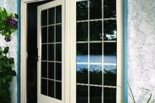 Open patio door, alternate view from enclosed patio