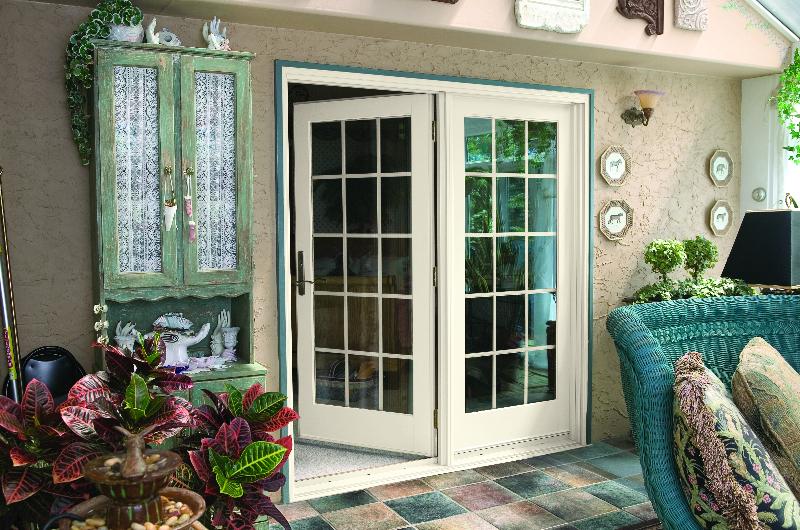 open patio door exterior view from enclosed patio - Patio Doors With Windows That Open