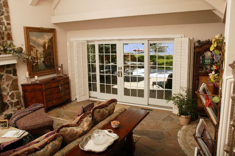 Sliding Patio Doors, Interior View, View Of Lakeside