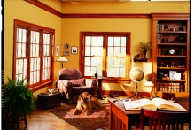 Renewal by Andersen double-hung windows, traditional living room